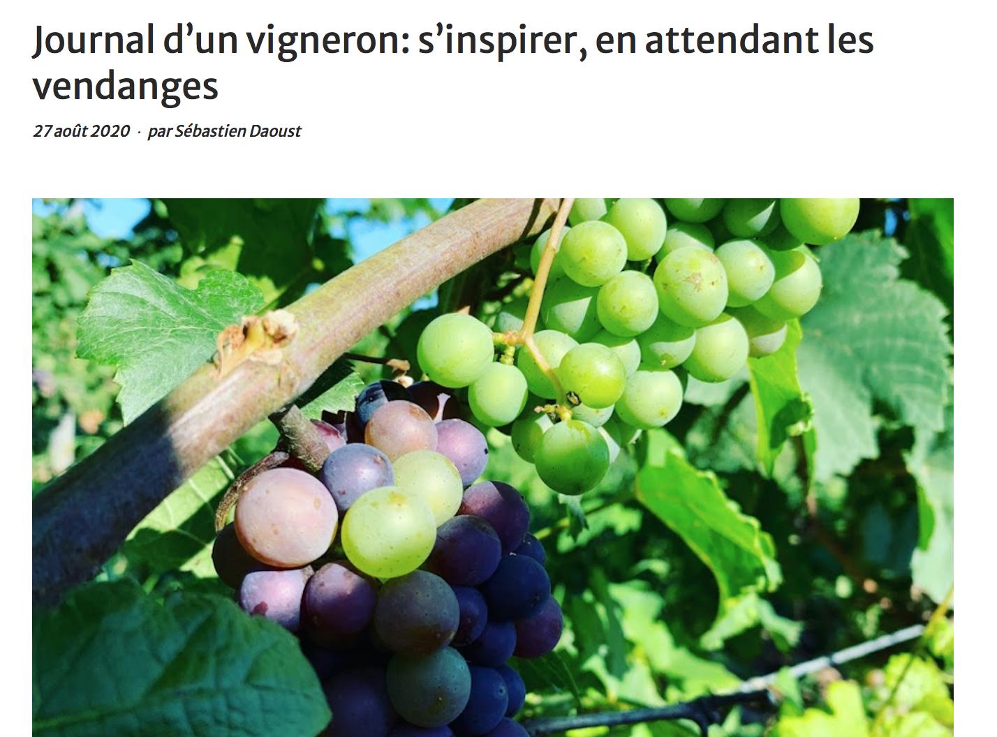 Journal d'un vigneron